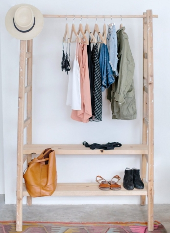 clothes rail storage